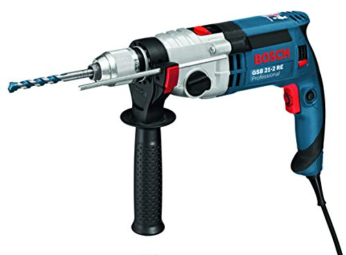 Bosch Professional 060119C570 GSB 21-2 RE Corded 240 V Impact Drill, 1100 W, Navy Blue