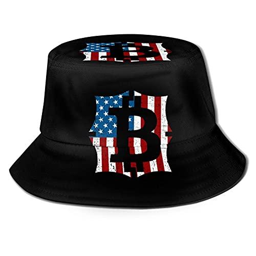 Sombrero de cubo Bitcoin Investor Told You So USA Flag Fisherman Hat al aire libre versátil sombreros de verano para mujeres hombre negro