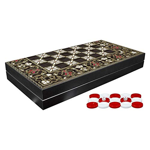CHENSHENG トップバックギャモンセットクラシックボードゲームカバーベスト戦略とヒントガイド - 小型で利用可能