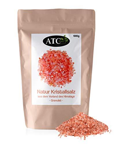 ATC Vital | rosa Kristallsalz bekannt als Himalaya Salz, grobe Körnung, 100{8a4cd4da570ee42e5a4c45e3eb348d71fa9f81e6809033b0a1090ccf9dd11852} natürlich | 500g