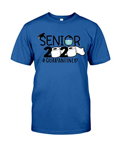 Funny Senior 2020 Quarantined with Toilet Paper Unisex T-Shirt Many Color for Men and Women Royal Blue