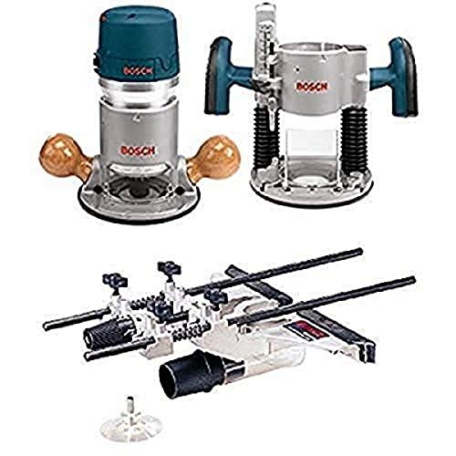 Bosch 1617EVSPK 12 Amp 2-1/4-Horsepower Plunge and Fixed Base Variable Speed Router with RA1054 Deluxe Router Edge Guide With Dust Extraction Hood & Vacuum Hose Adapter