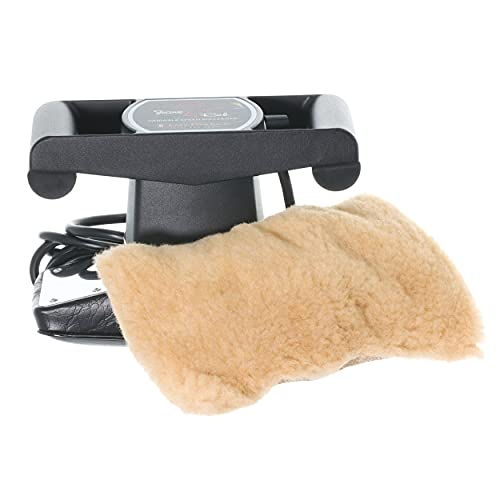 Core Products Jeanie Rub Variable Speed Massager, Deep Tissue Massage, Orbital Action for Back & Body, Professional Quality - Fleece Cover Combo