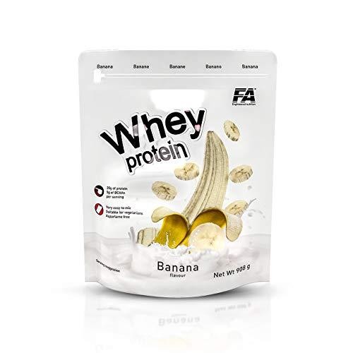 FITNESS AUTHORITY proteine del siero 908g 1 confezione da proteine in polvere polvere proteine del siero con Aminogen tonificante (Green Apple)