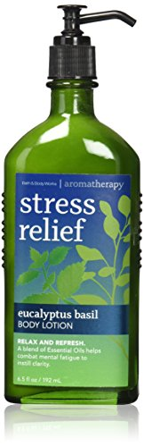 Bath & Body Works Aromatherapy Stress Relief Eucalyptus Basil Body Lotion 6.5 Oz.