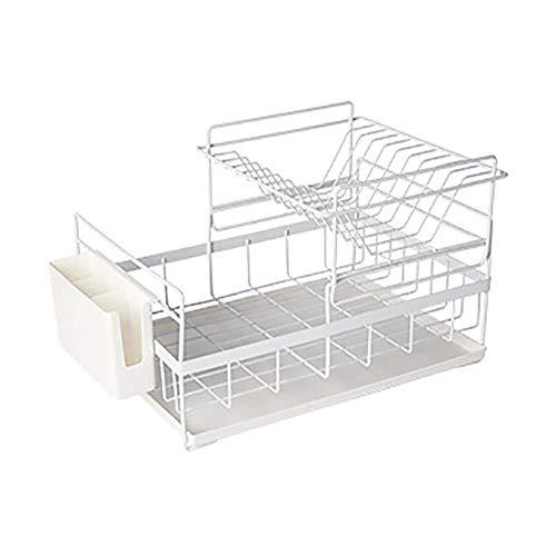 QZH Conveniente, Moderno, Minimalista, desagüe de Cocina, vajilla de Doble Capa, Caja de Almacenamiento para secar, estantes para Platos, estantes para Platos, Almacenamiento de Cocina (bla