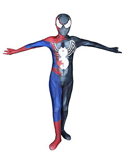Venom Raimi Symbiote Spider Cosplay Cosutme Dress up Suit Superhero Pretend Play Bodysuit,150