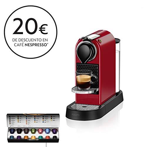 Nespresso XN7415 Roja EU, Acero Inoxidable, Citiz Granate