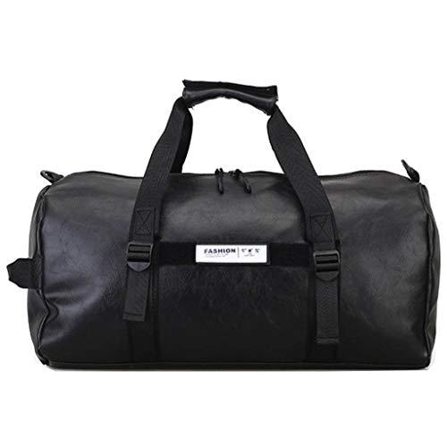 PU-Leder Joker Kurzstrecken-Reisetasche wasserdichte Fitness-Tasche mit großer Kapazität (Color : Black, Size : 45 * 26 * 27)