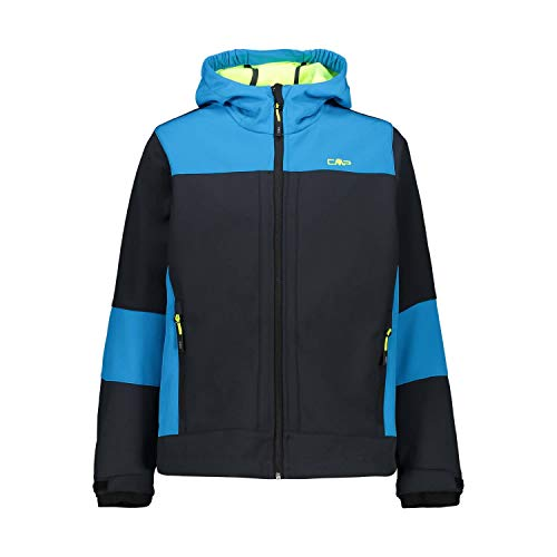 CMP Jungen Softshelljacke mit ClimaProtect-Technologie 7.000mm, Antracite-Yellow Fluo, 164