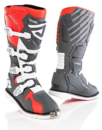 Acerbis X-Race Motocross Boots Grey/Red 11