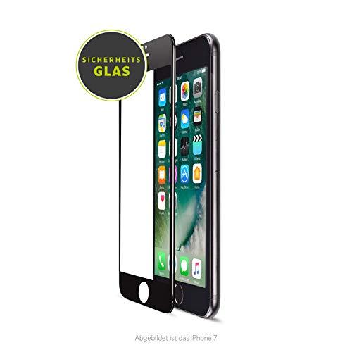Artwizz CurvedDisplay Sicherheitsglas für iPhone 8, 7, 6 - vollflächiges Display-Schutz-Glas - mit 9H härtester Glasschutz - Screen Protection Designed in Berlin - schwarz - 5741-2150