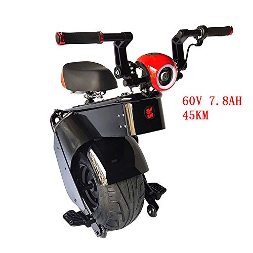 LQQ Motorized smart Balance Scooter Leistungsstarke Elektroroller 1000W 60V EIN Rad Selbst Balancing Scooters Big Reifen Motorrad Elektro-Einrad Scooter Erwachsene 2020 (Color : B, Size : 45KM)
