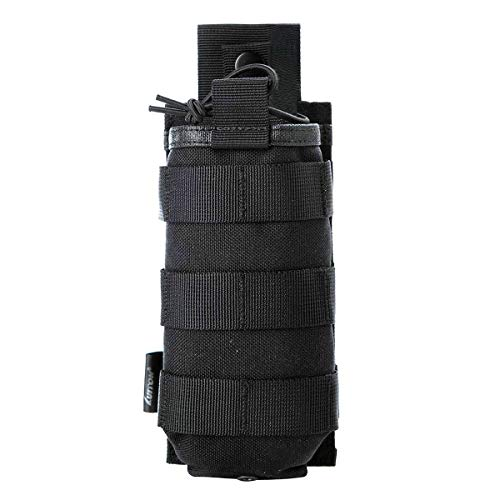 Tactical Universal Radio Holster/Radio Pouch Holder Case Bag Military Molle Radio Case for Baofeng Motorola Midland CB Walkie Talkies Compatible with 5.11 Bags (Black) by LUITON