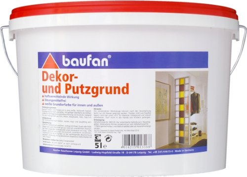 Baufan Dekor-und Putzgrund Dekorgrund Putzgrund 5l