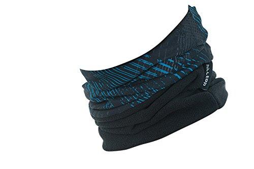 Hilltop Polar Halstuch, Multifunktionstuch, Kopftuch, Schlauchschal, Schal mit Fleece, Cooles Design in Trendfarben, für Damen und Herren, Farbe:Blau - Schwarz
