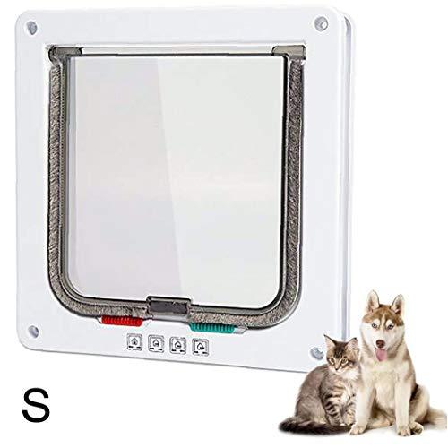 Berrywho Gatera Pet Puerta de instalación Sencilla túnel del Gato Entrada Exclusiva para los Gatos Grandes de Perros pequeños S Blanco
