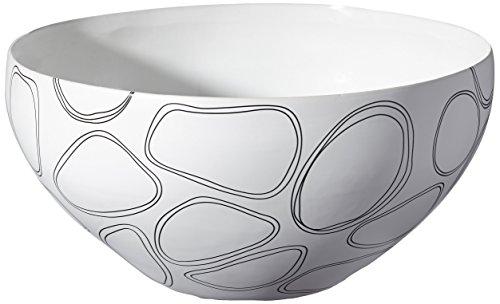 ASA 5478160 Coque Céramique, 36,5 x 36 x 18 CM, Noir/Blanc