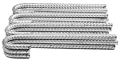 Pinnacle Mercantile Extra Heavy Duty Galvanzied 1/2 inch Rebar J Hooks 11 inches