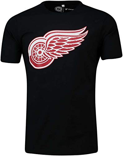 Fanatics - NHL Detroit Red Wings Secondary Core Graphic T-Shirt - Schwarz Größe M, Farbe Schwarz
