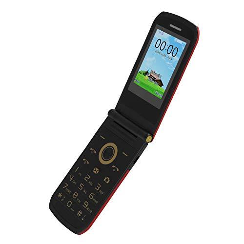 Annadue Teléfono móvil Mini Flip de 2.4 Pulgadas, 4 Bandas de frecuencia 32MB + 32MB Teléfono Celular Duradero, con una resolución de 240x320, Batería incorporada de 3800mAh (EU)