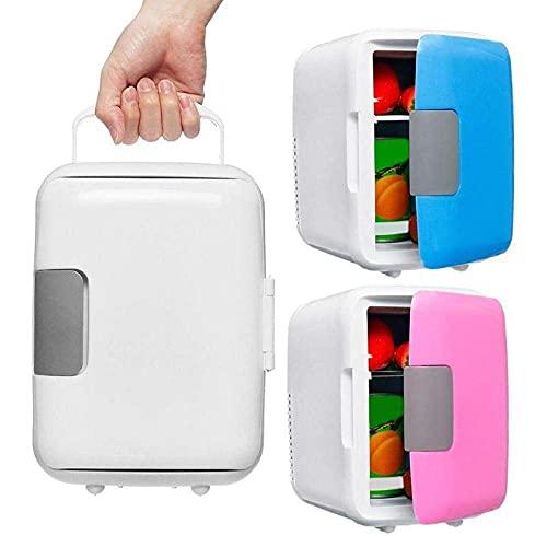 Peakfeng Portátil 4L congelador de automóvil refrigerador refrigerador de Uso del Coche Frigorífico de Coche 12V Calentador de refrigerador Piezas de vehículos universales (Color : Pink)