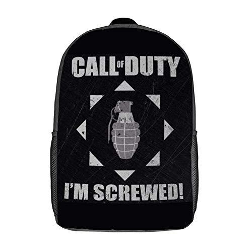 Mochila de ocio Call-of-Duty Modern-Warfare: mochila clásica para computadora portátil de 17 pulgadas, mochila para acampar, mochila para viajes al aire libre, mochila para la escuela universitaria