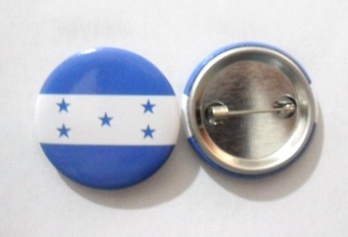 Anstecknadel, Motiv: Nationalflagge, aus Weißblech, 3 cm Durchmesser (Honduras)