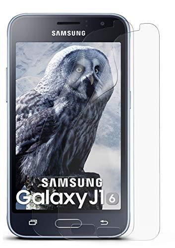 2X Samsung Galaxy J1 (2016) | Schutzfolie Matt Bildschirm Schutz [Anti-Reflex] Screen Protector Fingerprint Handy-Folie Matte Bildschirmschutz-Folie für Samsung Galaxy J1 2016 Bildschirmfolie
