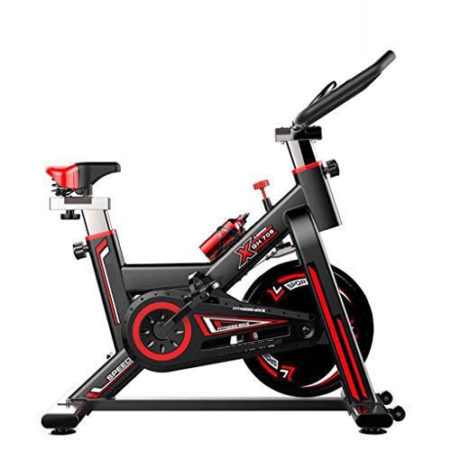 Spinning Bike Allenamento Indoor Bike stazionaria Fitness Bike Cycling Bike 18 LB Volani silenziosa a Cinghia con Resistenza del Sistema for la casa Cardio Training (Color : Black)