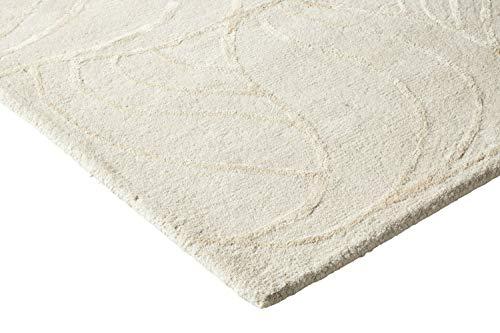 heine home handgearbeiteter Hochflorteppich beige, Größe Teppiche:ca. 60 x 90 cm