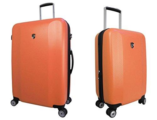 Equipaje, Maletas y Bolsas de Viaje - Premium Designer Maleta Rígida Set 2 Piezas - Heys Core Quad Naranja Trolley con 4 Ruedas Media + Trolley con 4 Ruedas Grande