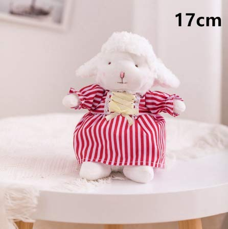 N / A Cute Cartoon Dress up Sheep Alpaca Stuffed Toys For Baby Kids Soft Fluff Funny Sheep Plush Dolls Pendant Children Gifts 17cm