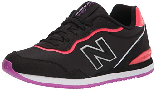 New Balance womens Sola Sleek V1 Sneaker, Black/Vivid Coral, 7 US