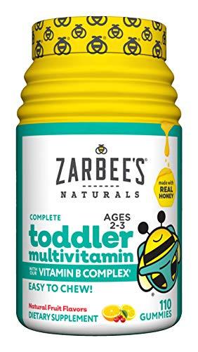 Zarbee's Naturals Complete Toddler Multivitamin Flavors Gummies, Natural Fruit, 110 Count