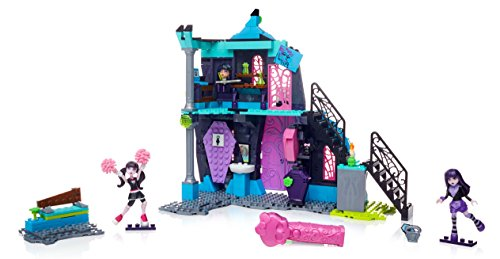 Monster High Mega Bloks School Fang out School Play Set con Draculaura y Elissabat Dolls