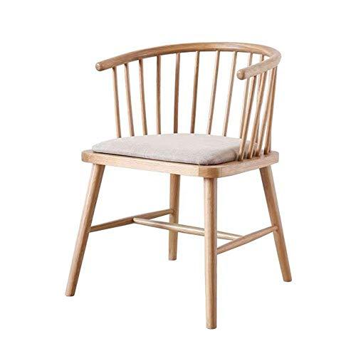 Busirsiz Sillas de Comedor Contador de Cocina Silla Wishbone Y Silla de Madera sólida Que Cena Las sillas de ratán Sillón Natural (Color, tamaño: 56x50x73cm)