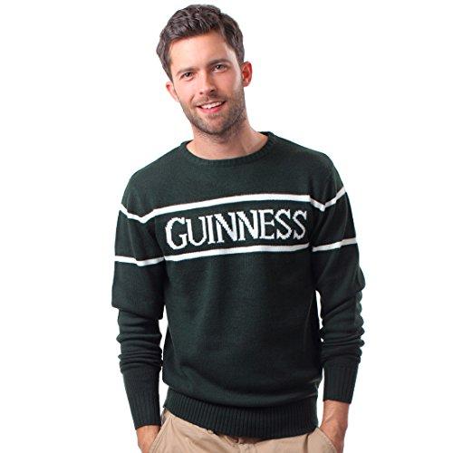 Offizielle Guinness Herren Knit Jumper Mit Weiß Guinness Text, Flaschen Grün, M