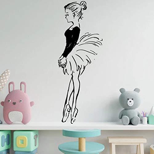 Ballerina Ballerina Ballet Dancer Pointe Shoes Gimnasia Wall Dance Studio Vinilo Adhesivo de pared