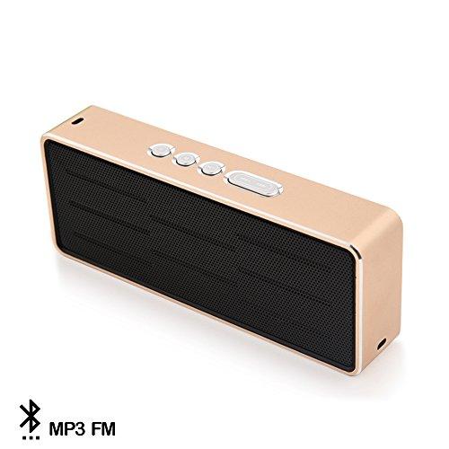 Silica DMT144GOLD - Altavoz Bluetooth con Radio FM WSA-8606, Color Gold