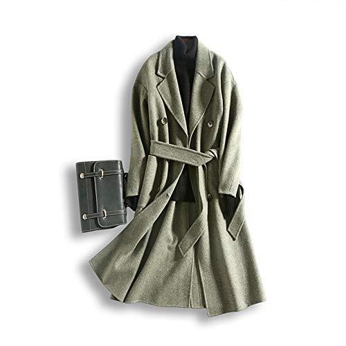 SHKAC Mantel Der Mantel Ist EIN Zweifarbiger Mantel. Grüne Bohne Grün M