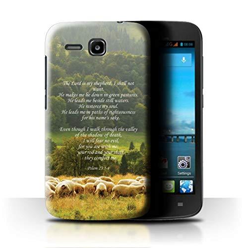 Hülle Für Huawei Ascend Y600 Christliche Bibel Vers Lord Shepherd/Psalm Design Transparent Ultra Dünn Klar Hart Schutz Handyhülle Case