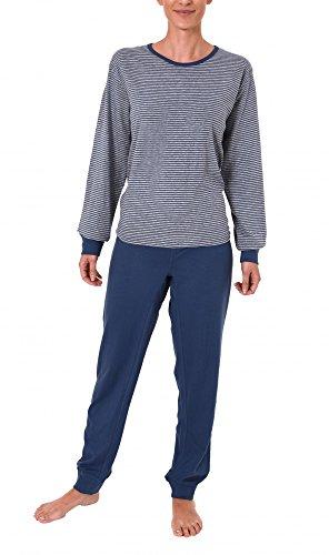 Normann Care Damen Pflegeoverall Langarm mit diagonalen Reissverschluss am Rücken 251 270 90 158, Größe:XXL;Farbe:blau