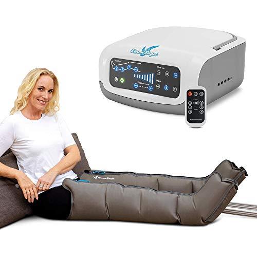 Vein Angel 4 Premium apparecchio per massaggi con gambali, 4 camere d\'aria disattivabili, pressione & durata facilmente regolabili, 3 programmi di massaggio, no pressoterapia