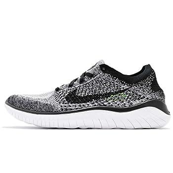 Nike Men s Free Rn Flyknit 2018 Running Shoe nk942838 101  7.5 D M  US  White/Black