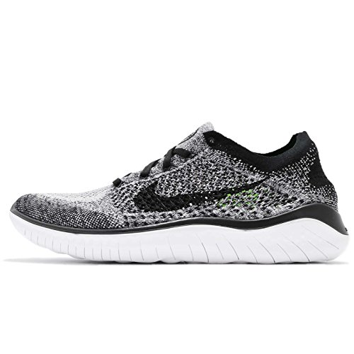 Nike Men's Free Rn Flyknit 2018 Running Shoe nk942838 101 (7.5 D(M) US) White/Black