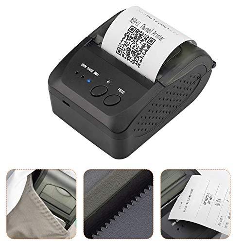 KKTECT Impresora Térmica Bluetooth 58 Mm 90 Mm/S Impresora Portátil De Etiquetas Compatible con Android/Windows Impresora De Alta Velocidad Se Aplica Al Código De Barras, Almacén De Oficina, Envío