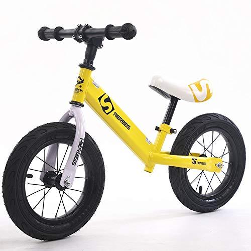QHY para Niños Bicicleta De Equilibrio Sin Pedal Scooter Niños Y Muchachas Aprender A Caminar Be Be Bicicleta para Niños (Color : Yellow)