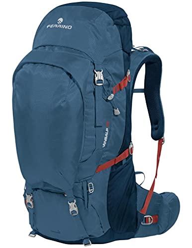 Ferrino Transalp 75 litri 75006 MBB colore rosso zaino ideale per trekking escursionismo hiking cammino di santiago scout capacità 75 litri tessuto supertex 75