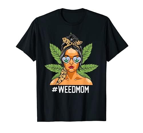 Mamá De Mujer Con Clase De Mujer Con Leopardo Mamá Marihuana Camiseta